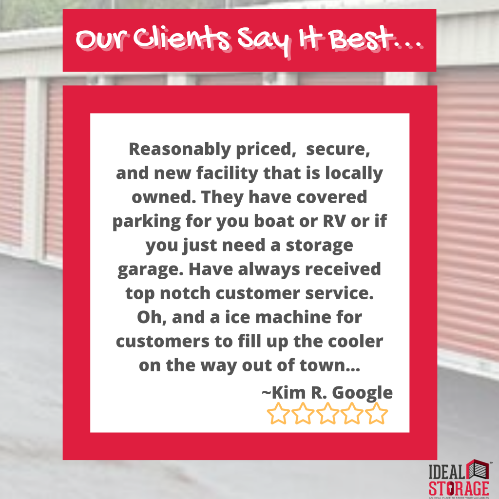Our Clients Say it Best at Ideal Storage Kingston…
