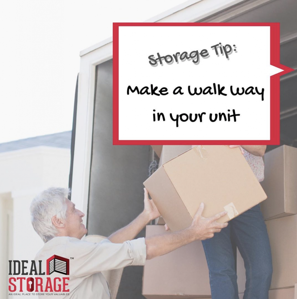 Storage Tip: Make a Walkway