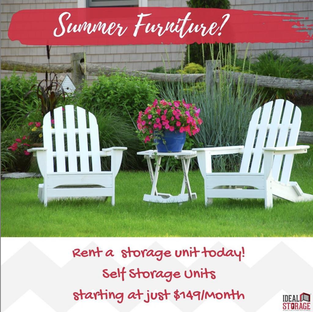Storing Summer Furniture at Kingston Storage?